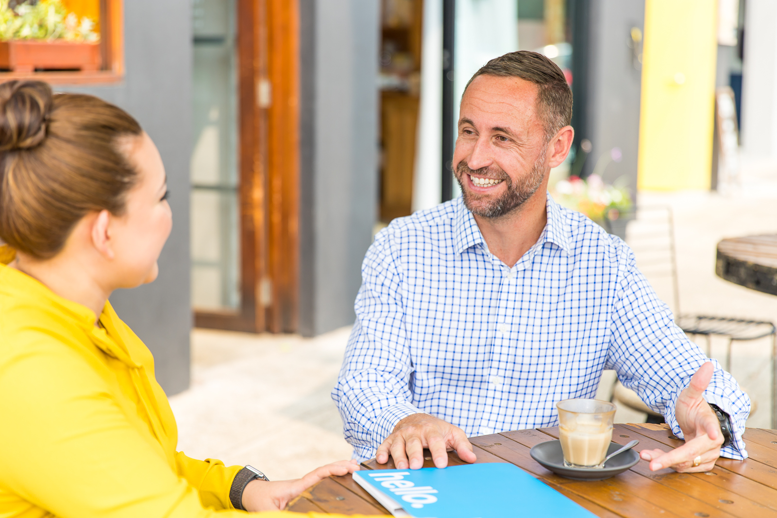 Personal Loans Newcastle concept - Heath talking with client