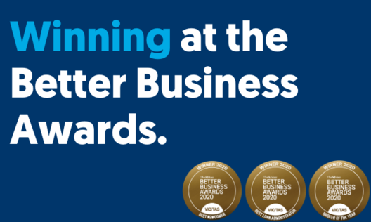 Tile winning at the better business awards.