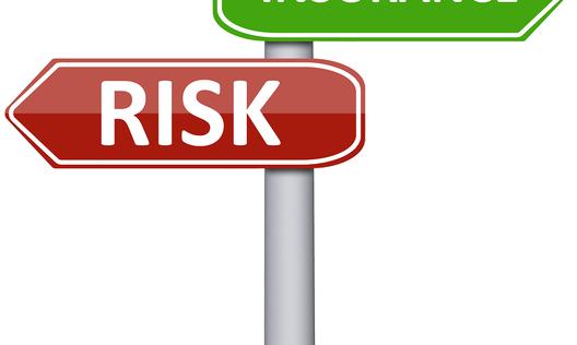 Tile insurance risk sign post